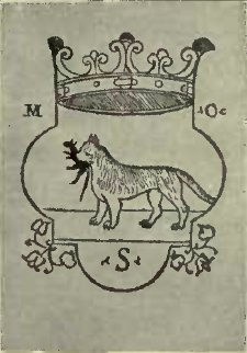 THE PRINTER'S MARK OF MELCHIOR SESSA, OF VENICE (From a Print at the British Museum)