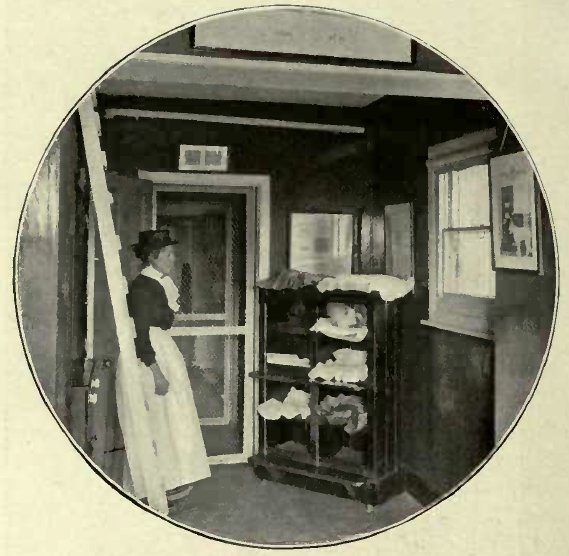 A SLEEPING BOX IN LADY DECIES CATTERY. (Photo: Cassell & Company, Limited.')