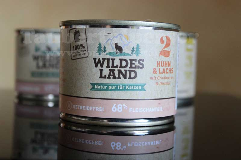 Wildes Land, Katzenfutter, unabhängiger Futtertest, Taubertalperser