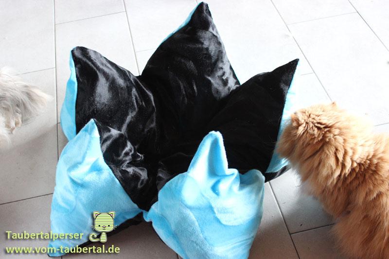 Sternenkissen, Kissen für Katzen, Katzenkissen, DIY, selbermachen für die Katzen