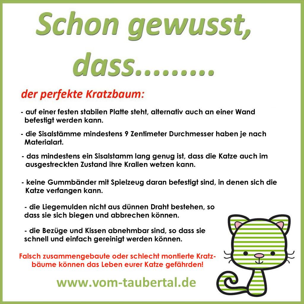 Kratzbaum, Kratzbaumvergleich, Hilfestellung beim Kratzbaumkauf, Taubertalperser