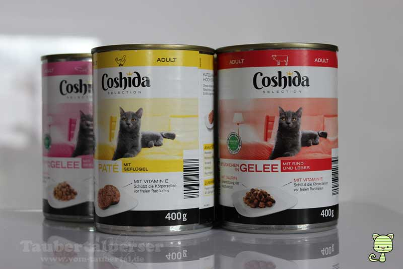 Coshida-Taubertalperser, Katzenfuttertest, Futtertest