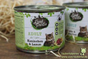 Landpartie Katzenfuttertest Kaninchen und Lamm