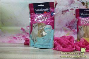 Vitakraft, Taubertalperser, Katzenfuttertest, Filet, Lachs, Katzensnack