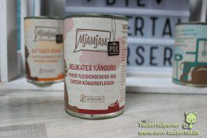 Mjamjam Purer Fleischgenuss, Taubertalperser, unabhängiger Katzenfuttertest, Futtertest