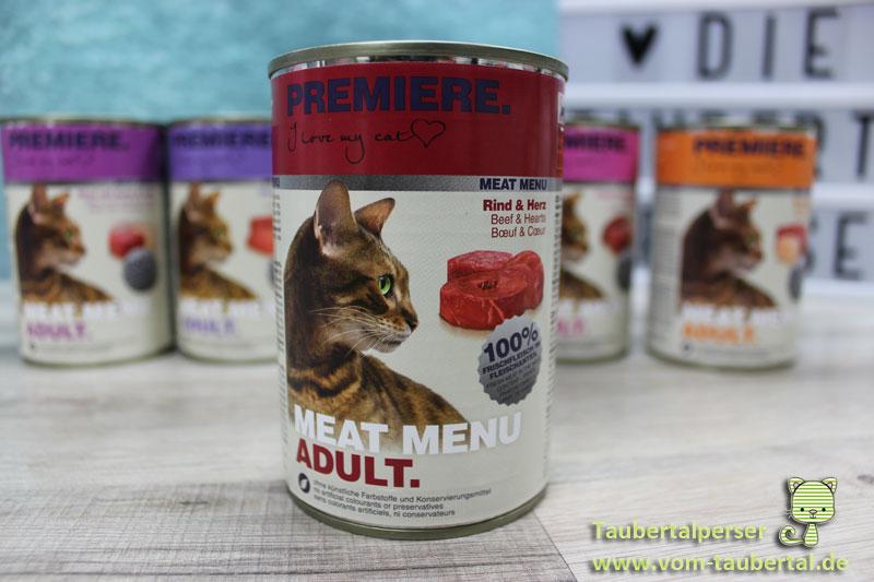 Premiere Meat Menu, Taubertalperser, unabhängiger Futtertest, Katzenblog, Nassfutter
