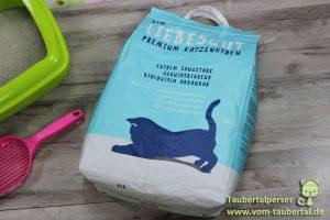 Liebesgut Katzenstreu, Taubertalperser, Biostreu, Katzenstreutest
