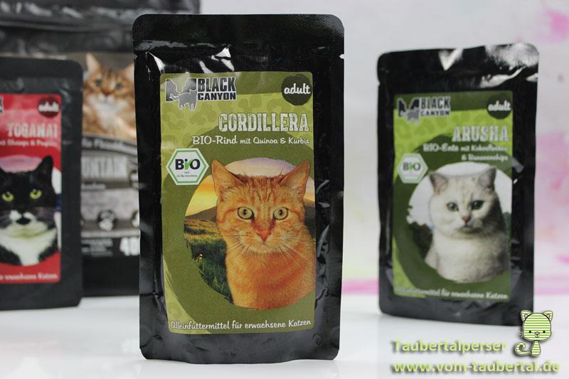 Black Canyon Katzenfutter, Taubertalperser, Katzenfutter, unabhängiger Futtertest