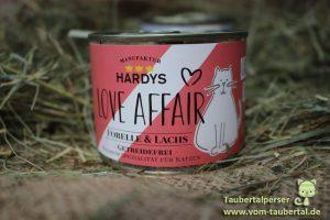 Hardys Traum, Taubertalperser, Futtertest, Katzenfutter im Test, Katzen, Ernährung, DM, Love Affair