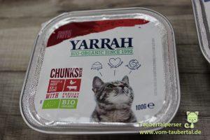 Yarrah, Biofutter, Katzenfuttertest, Futtertest, Katzenfutter, Taubertalperser