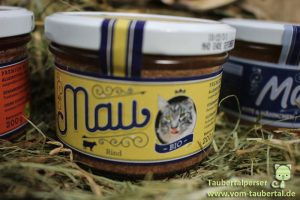 Mau Katzennassfutter, Taubertalperser, Futtertest, Katzenfuttertest, Bio, Katzenfutter im Test