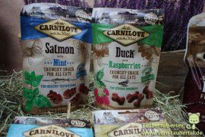 Carnilove, Soft Snack, Crunchy Snack, Chicken, Sarines, Salmon, Duck, Taubertalperser, Katzensnacktest