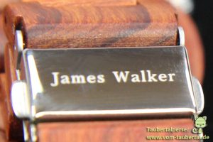 James Walker Holzuhr, Start-Up, Taubertalperser, Fütterungszeit, Uhr, Uhrzeit, Holzarmband