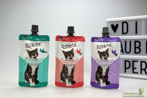 Dokas Snack Creme, Taubertalperser, unabhängiger Katzenblog, Snacktest, Futtertest