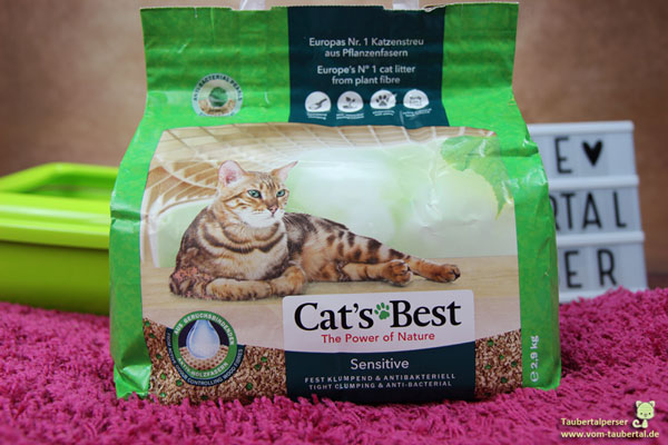 Cats Best Sensitiv, Katzenstreu, Öko-Streu, unabhängiger Katzenstreutest, Taubertalperser, Katzenblog