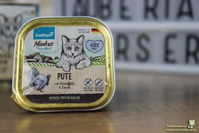 Minkas Naturfutter, Zooroyal, Taubertalperser, Katzenblog, unabhängiger Futtertest, Katzenfutter