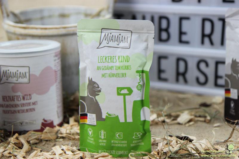 Mjamjam, Katzenfuttertest, unabhängiger Futtertest, Taubertalperser, Katzenfutter, hochwertiges Katzenfutter