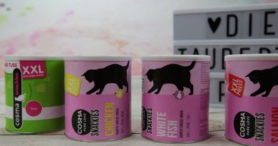 Cosma Snackies Snacks Taubertalperser Katzenblog, unabhängige Tests