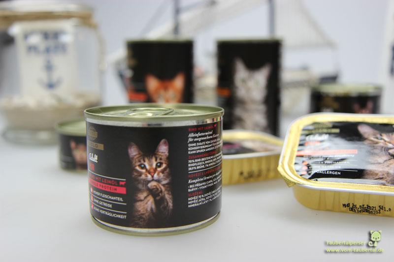 Globus Gold, Katzenfutter, Taubertalperser, Katzenfuttertest, unabhängiger Futtertest, Katzenfutter im Test, Nassfutter