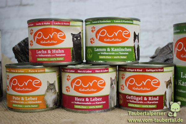 Pure Taubertaplerser Katzenfutter Futtertest