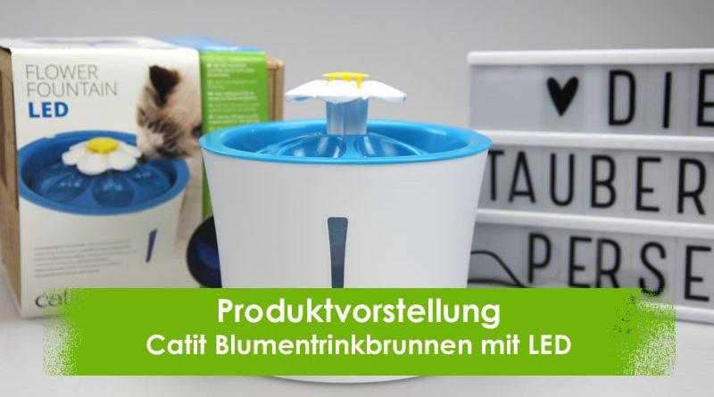 Catit 43747w Blumentrinkbrunnen 3l mit Led, Taubertalperser, Katzenblog, Katzentrinkbrunnen