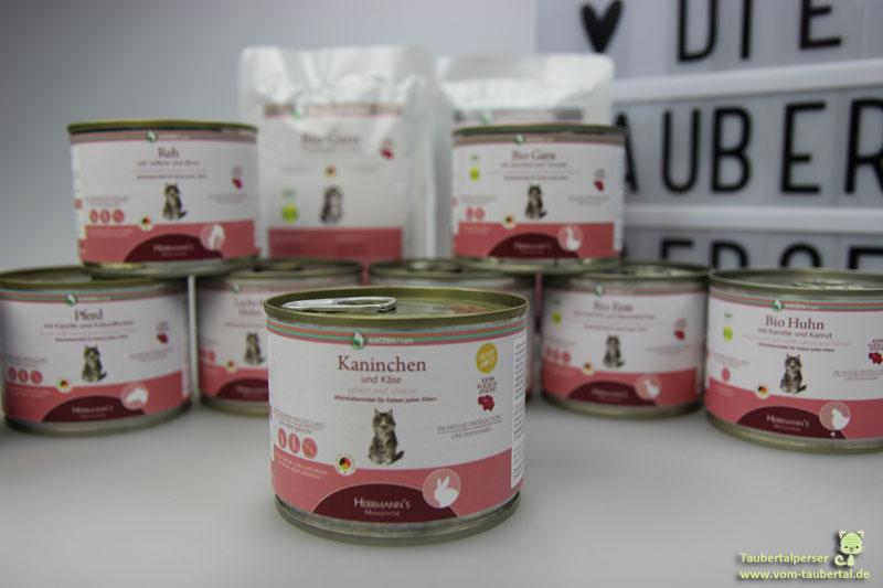 Herrmanns, Katzenfuttertest, Katzenfutter im Test, Biomenü, Taubertalperser