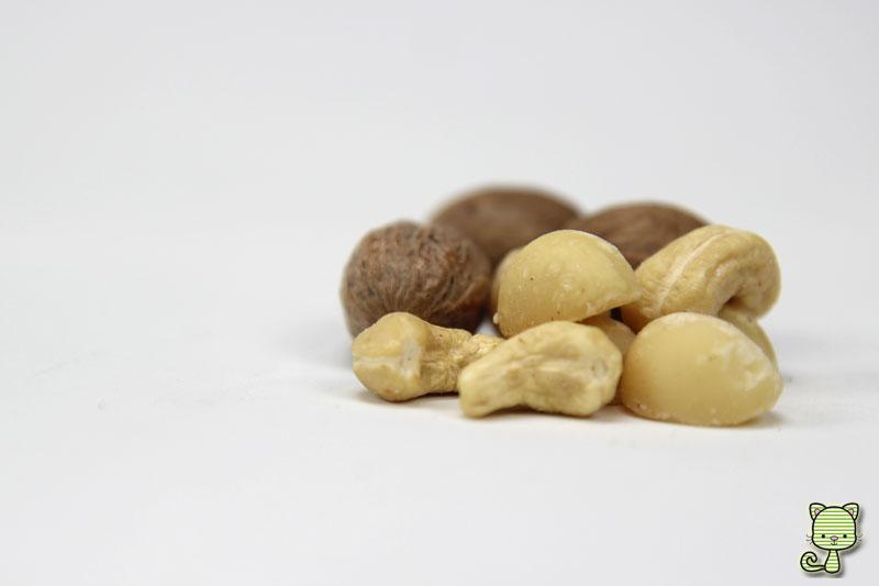 Nüsse, Muskatnuss, Macadamia, Ernuss