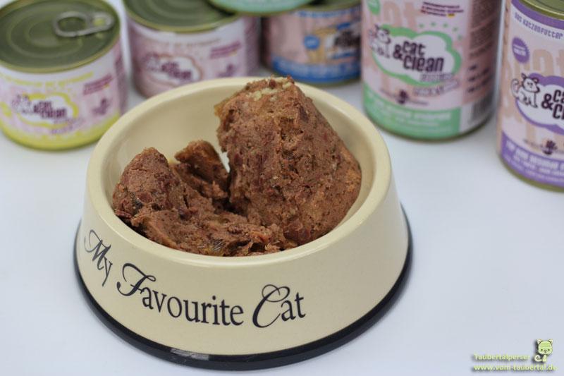 Cat&Clean Katzenfutter im Napf