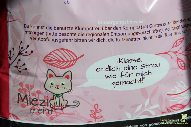 Goodcat, Katzenstreu, Streutest, Taubertalperser, Katzenblog