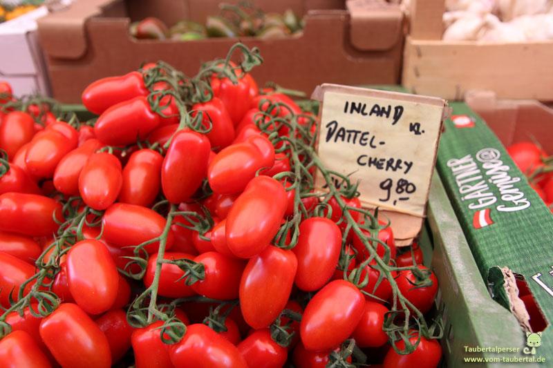 Naschmarkt, Wien, Cherry Datteltomaten