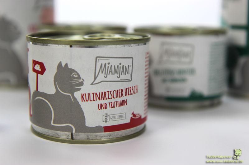 Mjamjam Hirsch, Taubertalperser, Katzenfuttertest