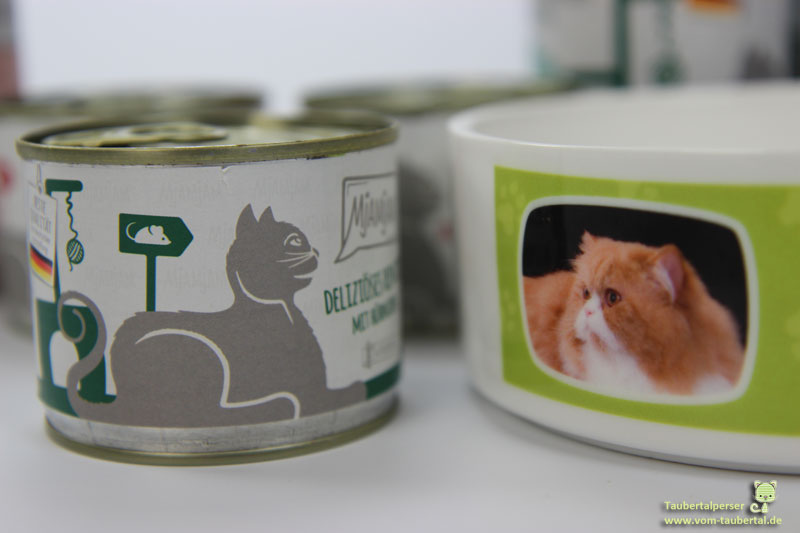 Mjamjam, Katzenfuttertest, Taubertalperser