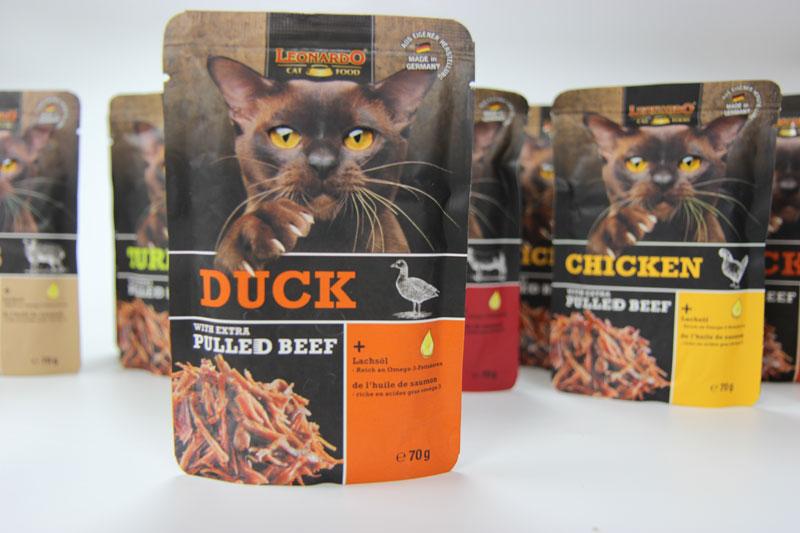 Leonardo Pulled Beef, Taubertalperser, Katzenblog, Katzenfuttertest