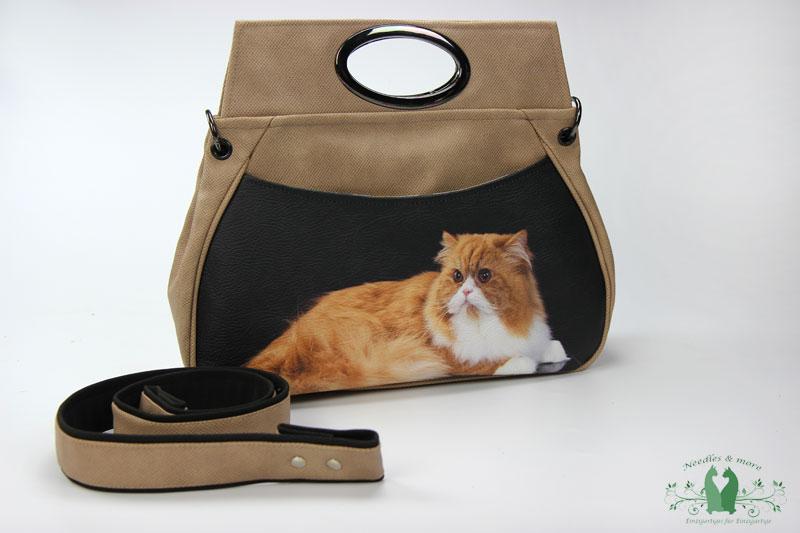 Hella L Tasche mit Katze als Motiv