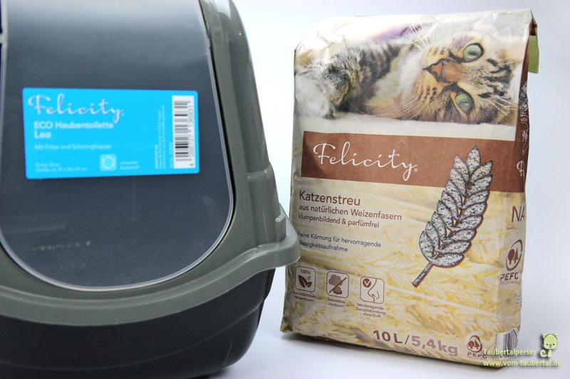 Felicity Eco Haubentoilette Felicity Katzenstreu aus Weizenfasern