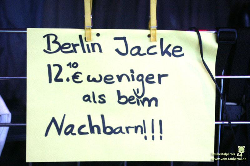 Berlin Jacke Werbung