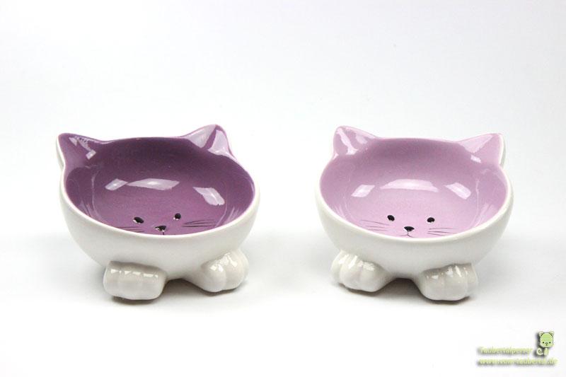 Keramikfutternapf Katzengesicht